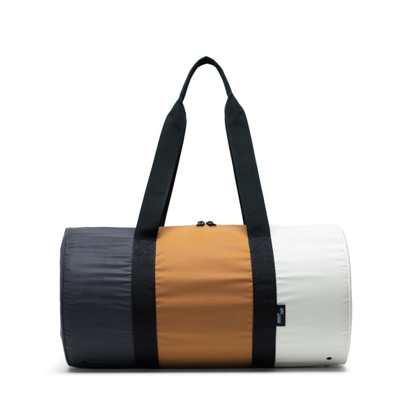 Herschel Day/Night Duffle Black/Buckthorn Brown/Overcast - Reflective