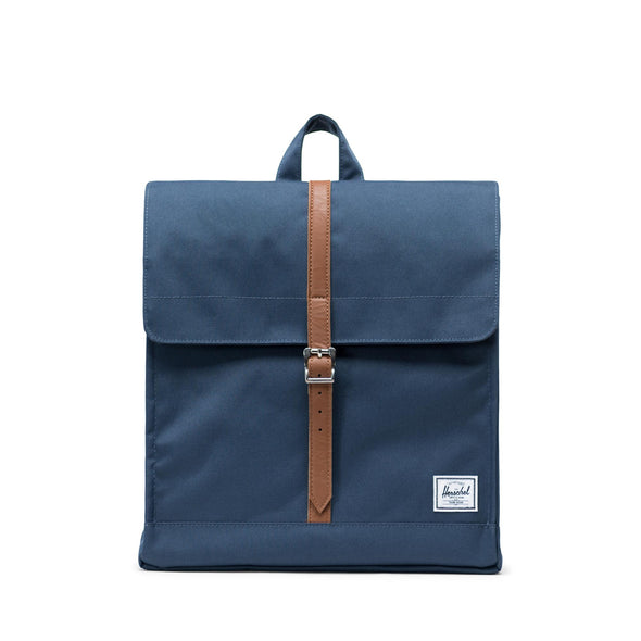 Mochila Herschel City Mid-Volume Navy/Tan Synthetic Leather
