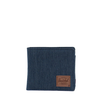 Carteira Herschel Hans Coin XL RFID Denim Crosshatch/Saddle Brown