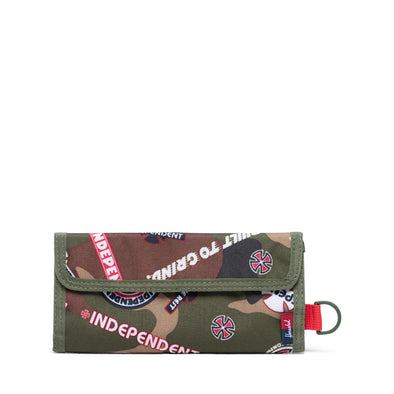 Carteira Herschel Smith Woodland Camo Multi Independent Logo/Cypress - Independent