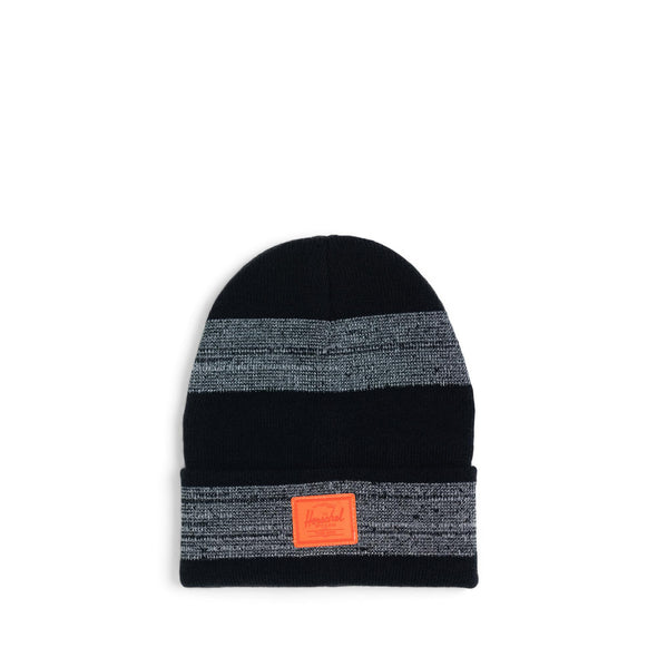 Gorro Herschel Elmer Phantom/Black/Tiger Orange Stripe - Reflective