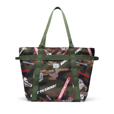 Herschel Alexander Zip Woodland Camo Multi Independent Logo/Cypress - Independent