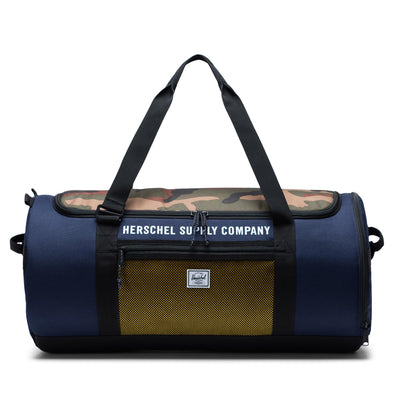 Herschel Sutton Carryall Peacoat/Woodland Camo/Lemon Chrome - Herschel Supply Athletics