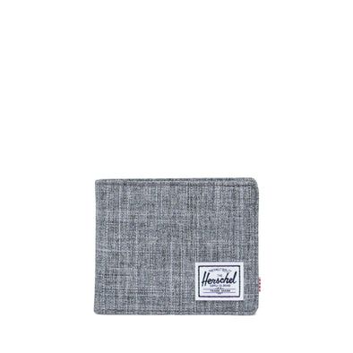 Carteira Herschel Roy Coin RFID Raven Crosshatch