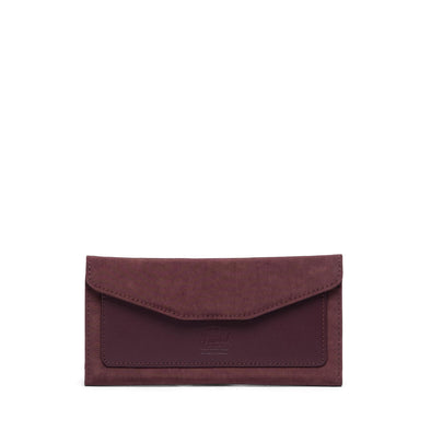 Carteira Herschel Orion Large Wallet RFID Deep Burgundy -  Leather Capsule