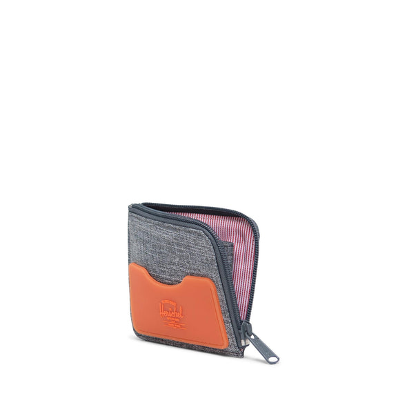 Carteira Herschel Jack Rubber RFID Raven Crosshatch/Vermillion Orange
