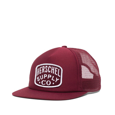 Chapéu Herschel Whaler Mesh Patch Windsor Wine