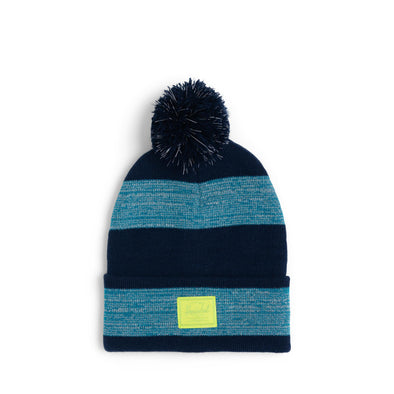 Gorro Herschel Elmer Pom Peacoat/Ocean Depths/Lime Punch Stripe - Reflective