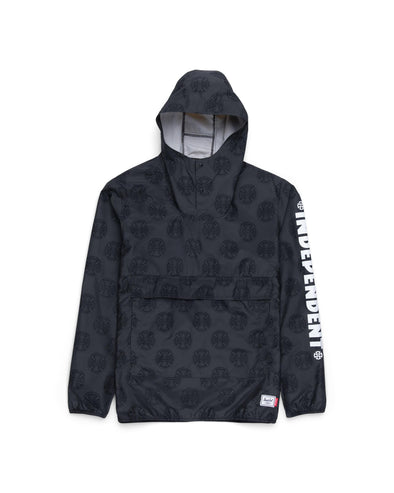 Anorak Herschel Homem Windbreaker Hip Pack Multi Cross Black - Independent
