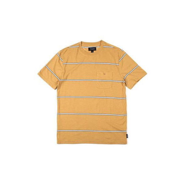 Brixton Fraction S/S Pkt Knit Washed Yellow