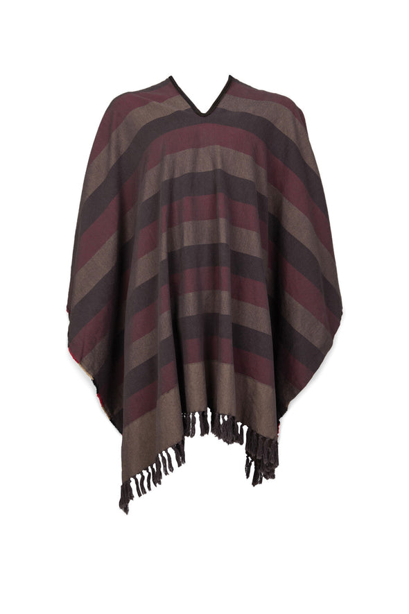 Brixton Vanguard Poncho Red/Black