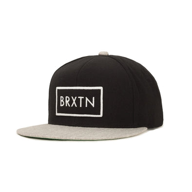 Brixton Rift Snapback Black/Light Heather Grey