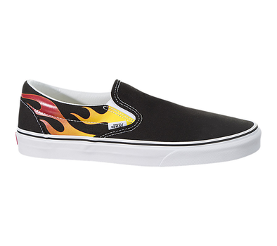 Vans UA Classic Slip-On (Flame) Black/Black/True White