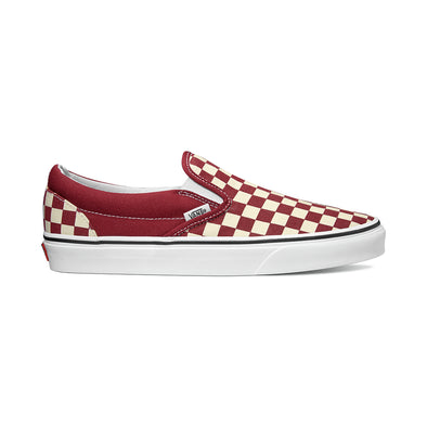 Vans Ua Classic Slip-On (Checkerboard) Rumba Red