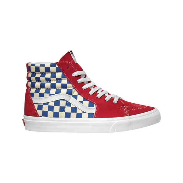 Vans UA SK8-HI (BMX Checkerboard) True Blue/Red