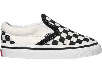Vans Classic Slip-On black and white checker/white - Kids