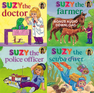 Suzy Story Books, 25% off & bonus narrated download - (Free Shipping)