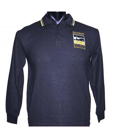 L/S Polo Navy/Gold Tip
