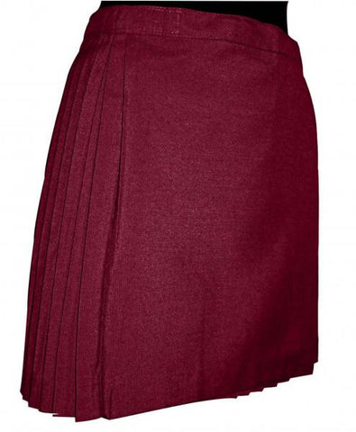 Netball Skirt Pleated - Maroon