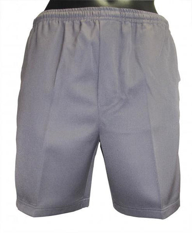 Shorts Gaberdine Full Elastic Waist - Grey