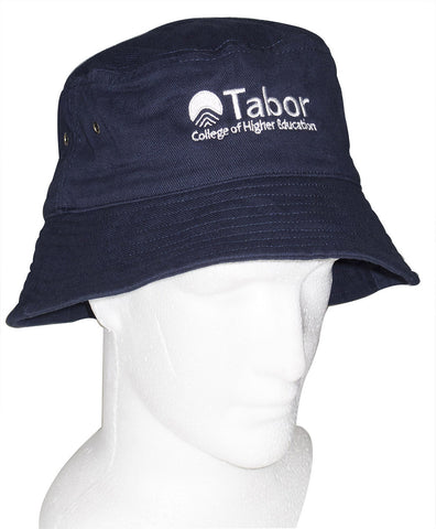 Bucket Hat - Navy with White logo