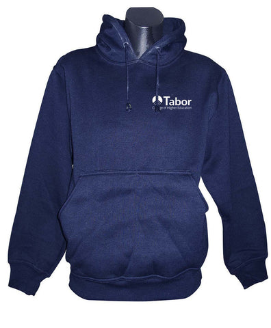 Pull on Hoodie - Navy with a White embroidered  logo