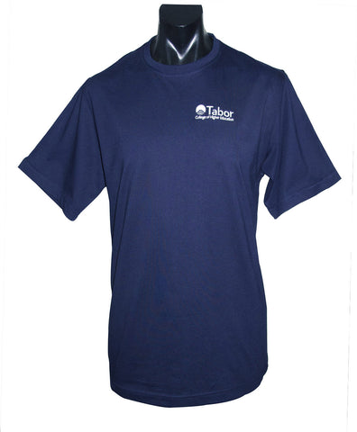 Short Sleeve 'T' Shirt - Navy with White Logo