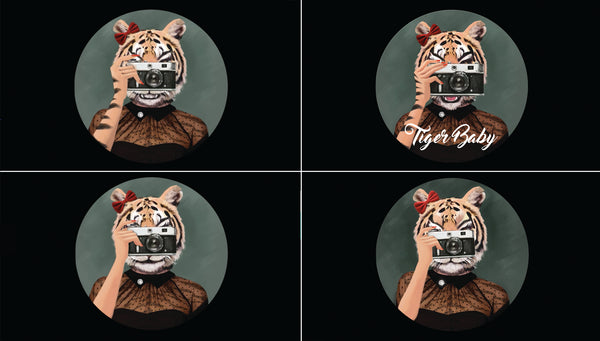 Tiger Baby_logo animation_hand explorations
