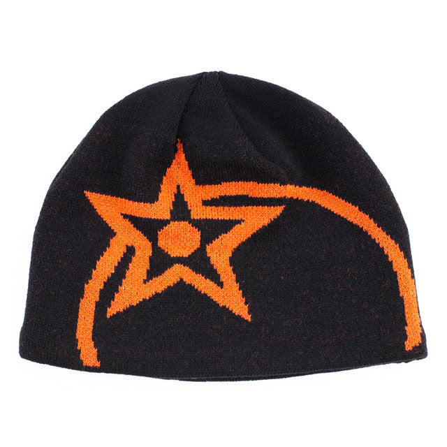 Orange kids beanie hat