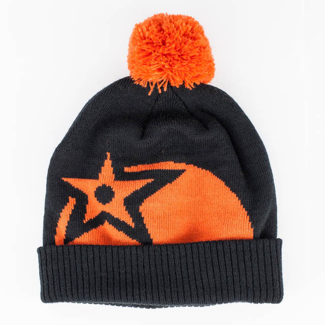 Orange bobble hat