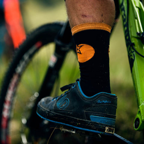 Orange riding socks