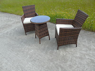 new bistro 2 4 6 seater rattan wicker dining outdoor garden furniture set
