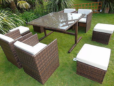 RATTAN WICKER CONSERVATORY OUTDOOR GARDEN FURNITURE PATIO CUBE