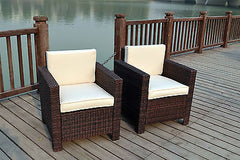 NEW SINGLE CHAIRS RATTAN WICKER CONSERVATORY OUTDOOR GARDEN FURNITURE SET