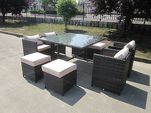 Terrific Rattan Wicker Conservatory Outdoor Garden Furniture Patio Cube Table Chair Set Download Free Architecture Designs Jebrpmadebymaigaardcom