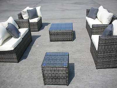 NEW RATTAN WICKER CONSERVATORY OUTDOOR GARDEN FURNITURE SET CORNER