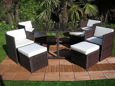 Rattan Wicker Conservatory Outdoor Garden Furniture Patio Cube Table