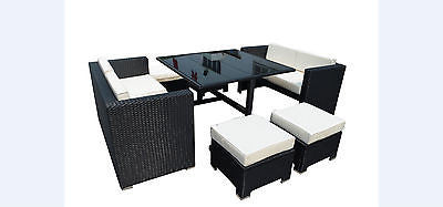 rattan wicker conservatory outdoor garden furniture patio cube table chair set furniture chair set s79 furniture
