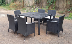 RATTAN WICKER CONSERVATORY OUTDOOR GARDEN FURNITURE PATIO CUBE TABLE CHAIR SET 4/6/8 seater