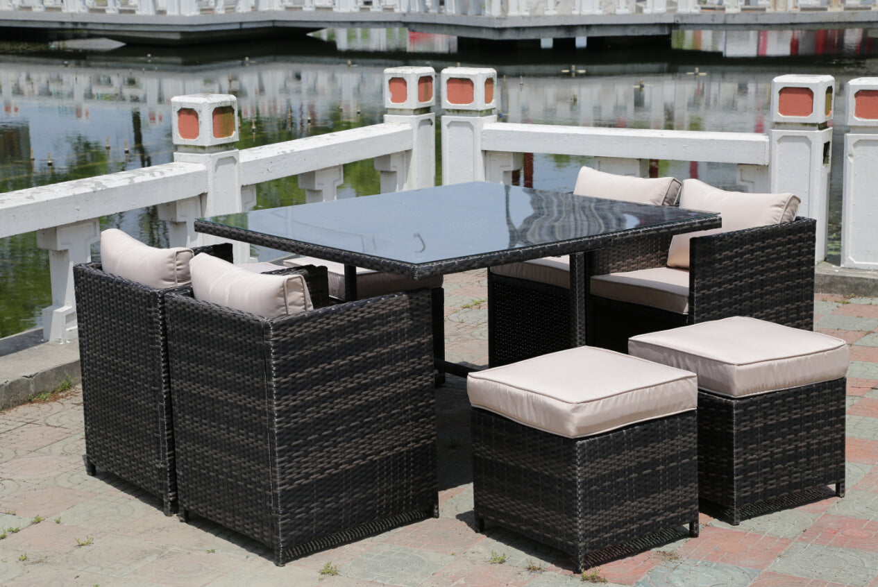 Rattan Wicker Conservatory Outdoor Garden Furniture Patio Cube Table C Uk Leisure World