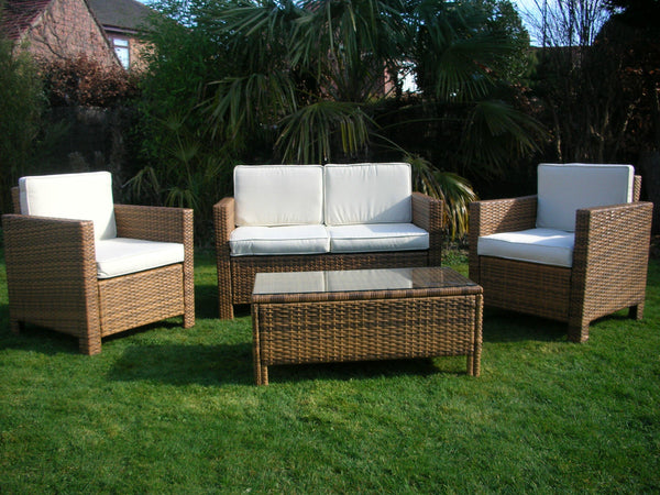 RATTAN WICKER OUTDOOR GARDEN FURNITURE SET