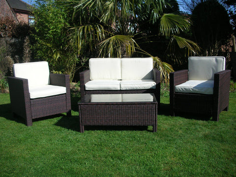 rattan wicker outdoor garden furniture set uk leisure world