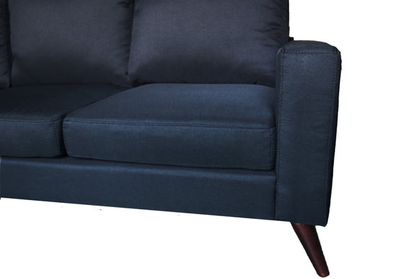 CORNER SOFA SUITES SETTEE BLACK SEATER ARMCHAIR FAUX LEATHER CHAIR