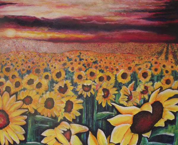 Large canvas print Sunflowers
