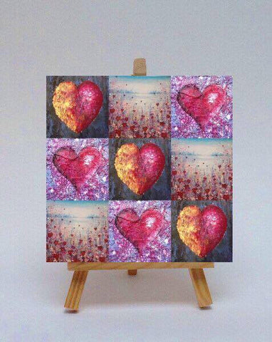 Ceramic tile with easel Lots of Love