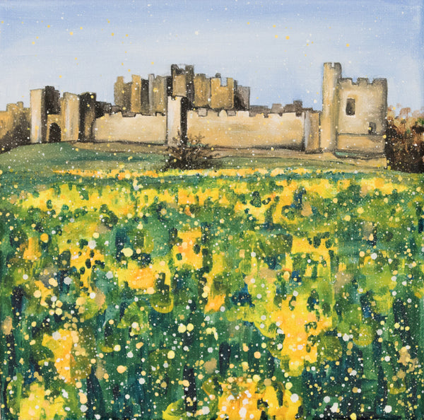 Large canvas Alnwick castle Northumberland