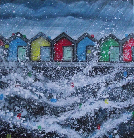 Large canvas Blyth Beach Huts