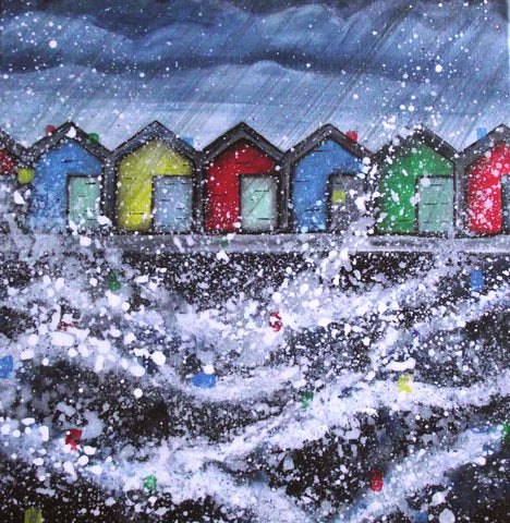Limited edition print Beach huts Blyth Northumberland