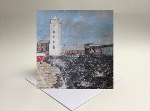 Greetings card North Shields fish quey