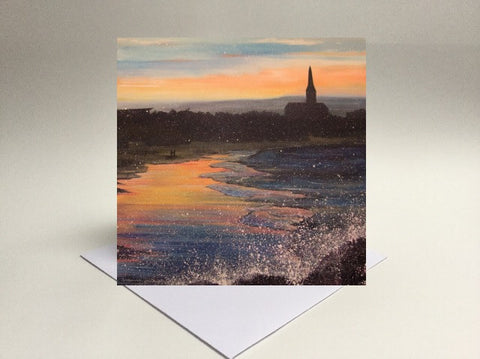 Greetings card Longsands Tynemouth